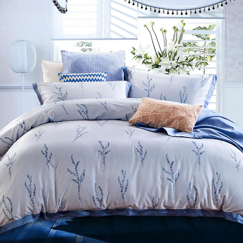 JD Коллекция лаванда 15 м кровать 200 230cm mercury постельные принадлежности набор 4 штуки простыня с набивной чехол на одеяло 100