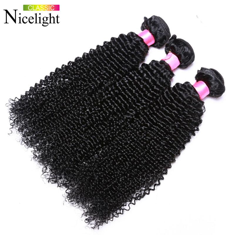 NICELIGHT CLASSIC 1B 8 10 12 Монгольские кудрявые вьющиеся волосы 3 комплекта