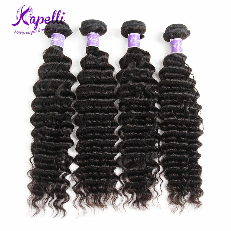 Kapelli  18 20 22 24 Бразильская девичьи волосы Deep Wave