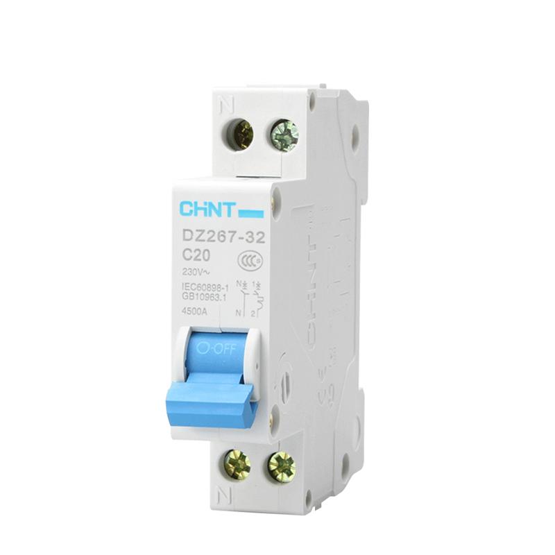 JD Коллекция тока утечки выключатель 1P N 20A дефолт chint dz267 20a dual line 2 in 2 out circuit breaker air switch white blue