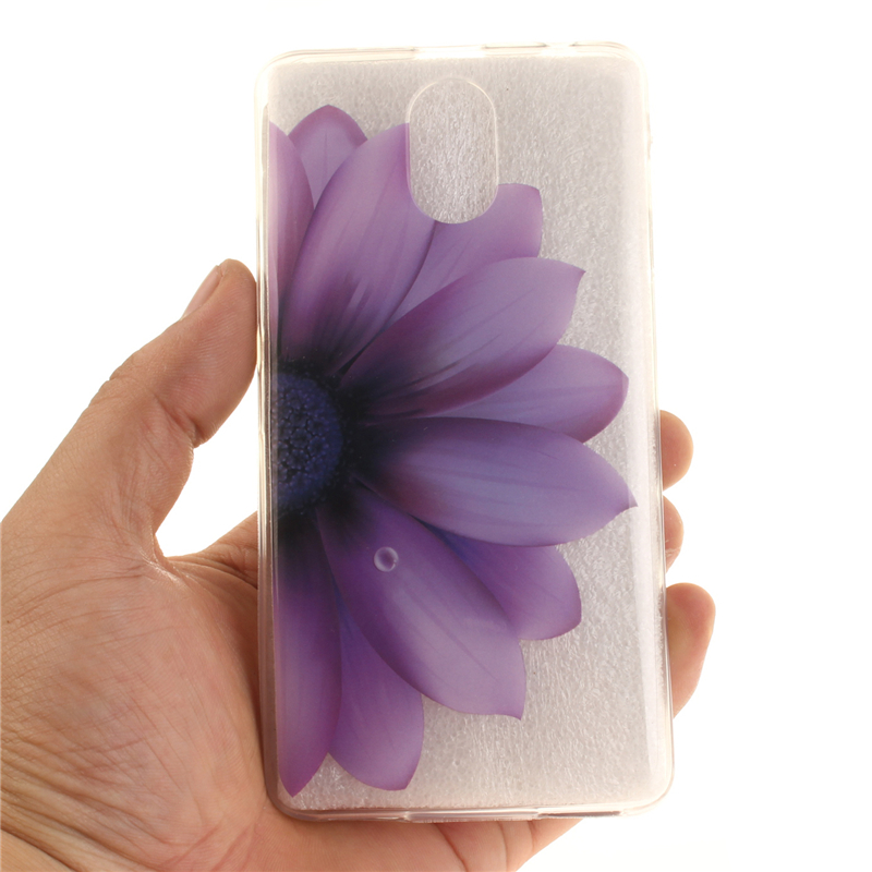 GANGXUN черная половина цветок шаблон мягкий тонкий резиновый тпу силиконовый чехол гель для lenovo vibe p1