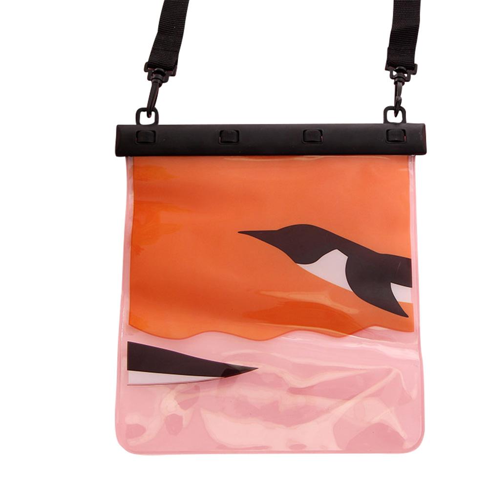 MyMei Оранжевый цвет universal waterproof bag with lanyard for iphone cell phone black