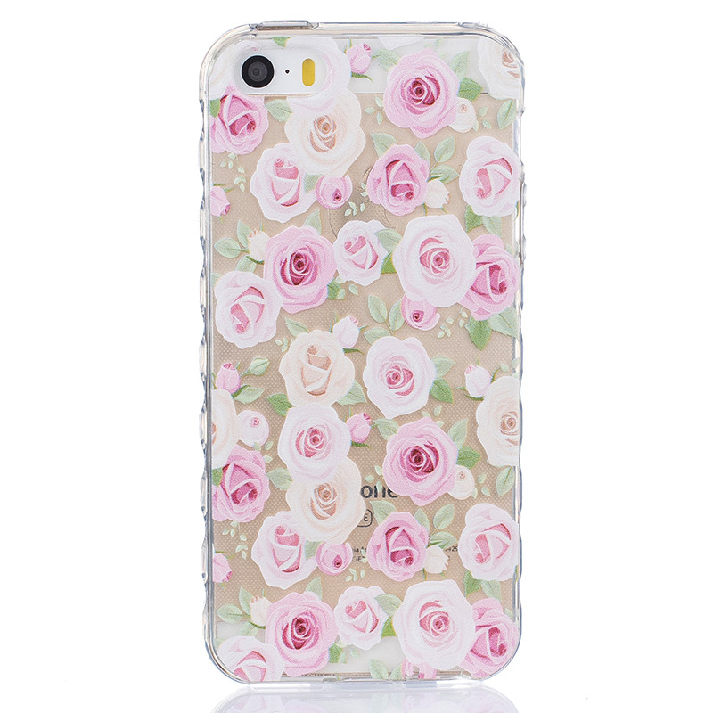 GANGXUN любовь pattern мягкий тонкий тпу резиновый силиконовый гель чехол для iphone 5 5s 5se