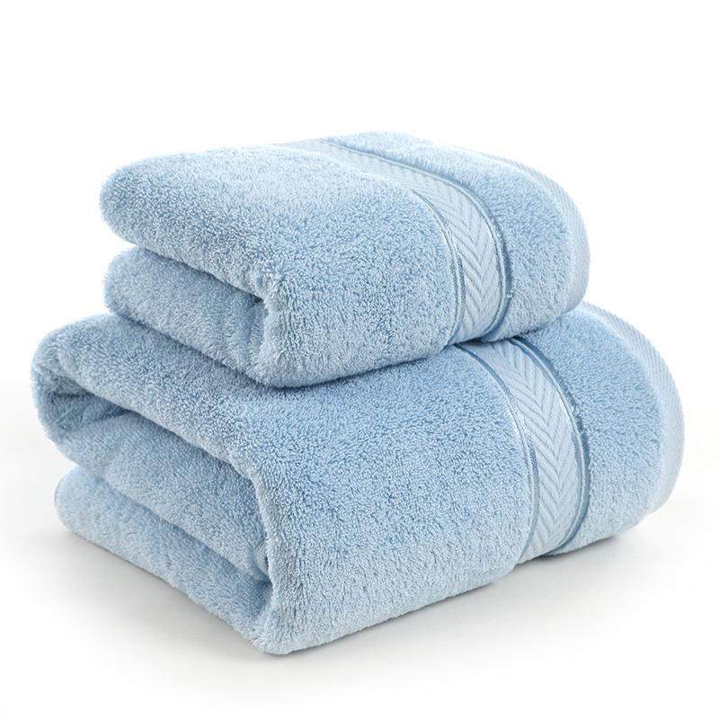 Joycollection JD Коллекция Полотенца, банные полотенца каждые один - синее дефолт фото