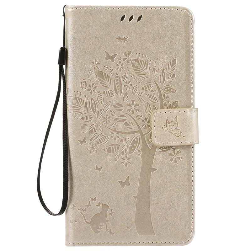 GANGXUN gold tree design кожа pu флип крышки кошелек карты держатель чехол для huawei y5ii