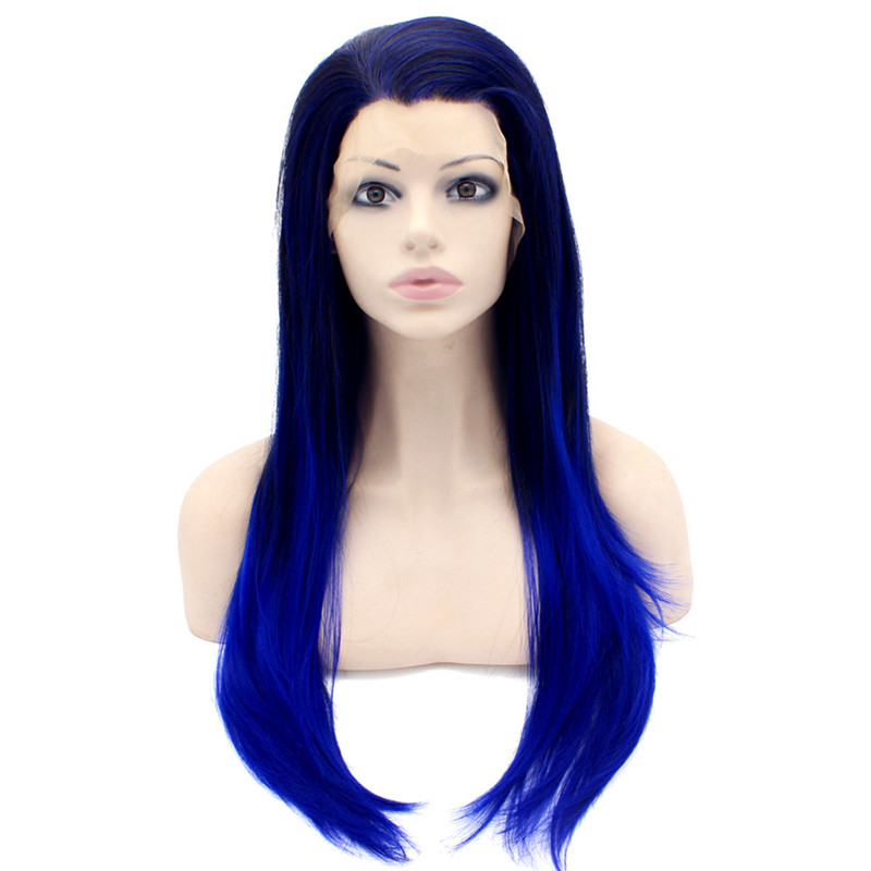 iwona free shipping 2014 new black green two tone afro kinky curl synthetic lace front wig 1b green two tone ombre wig