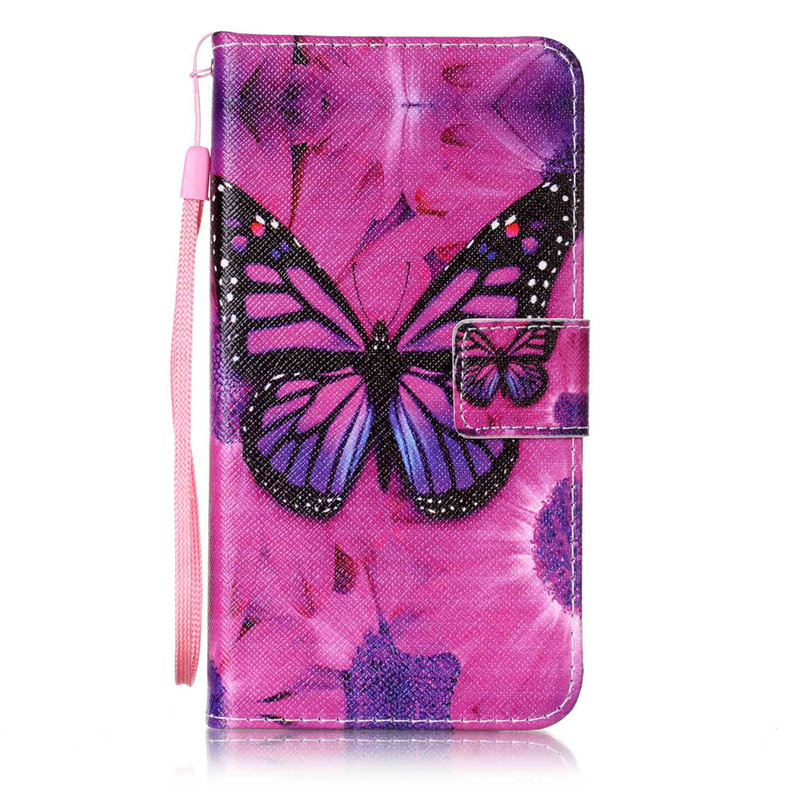 Чехол для Wiko Fever 4G бабочка улыбка дизайн кожа pu откидной крышки кошелек карты чехол для wiko fever