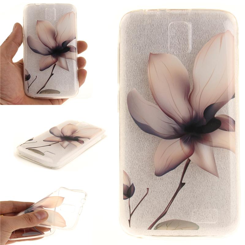 GANGXUN магнолия цветок картины мягкий тонкий тпу резиновая крышка случая силикона геля для lenovo a328