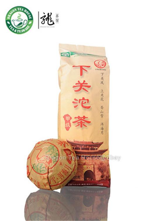 Dragon Tea House chinese yunnan puer tea brand xiaguan raw tea 2012yr bowl tea 100g tuo cha