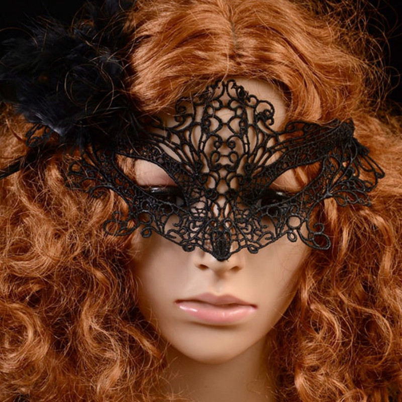 MyMei Чёрный цвет yeduo black sexy lady lace mask for masquerade halloween party fancy dress costume
