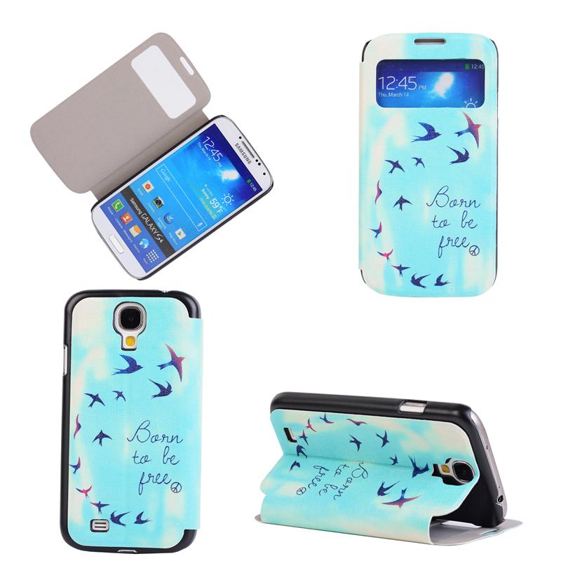 GANGXUN blue stripes дизайн pu кожа флип обложка кошелек для карты памяти чехол для samsung galaxy s4 i9500