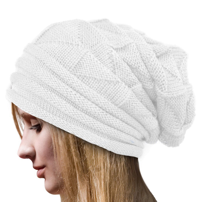 MyMei Белый цвет winter beanie men brand winter hats for women bonnet plain balaclava knitted caps blank skullies warm baggy cap gorros hat 2017