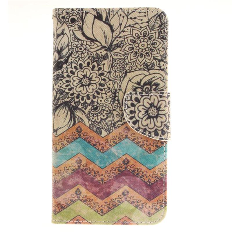 GANGXUN белые цветы дизайн pu кожа флип кошелек карты держатель чехол для lg g4 stylus ls770