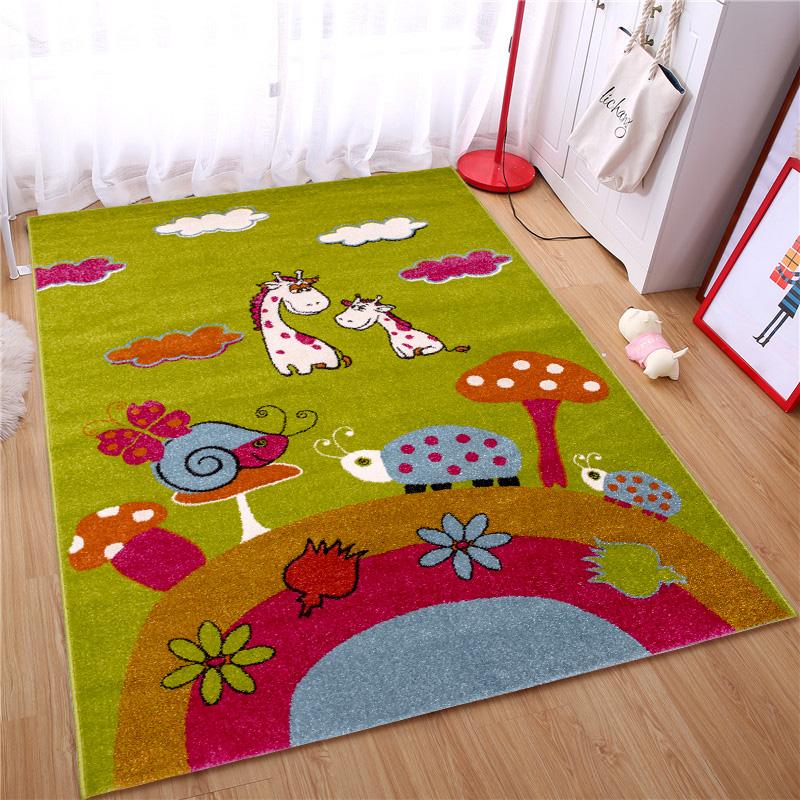 JD Коллекция 011 903 120 170см ли семья дом дети гостиной спальня ковер диван стол ресторан минималистский мультфильм ребенка скольжения ковер smurfs 011901 120 170см