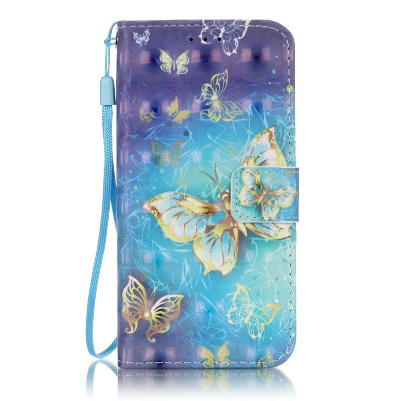 GANGXUN золотые бабочки дизайн кожа pu откидная крышка бумажника карты держатель чехол для samsung t580