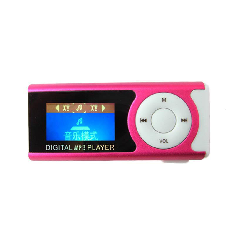 MyMei Розовый цвет portable usb mini mp3 player lcd screen support micro sd tf card with sport design free shipping noj02