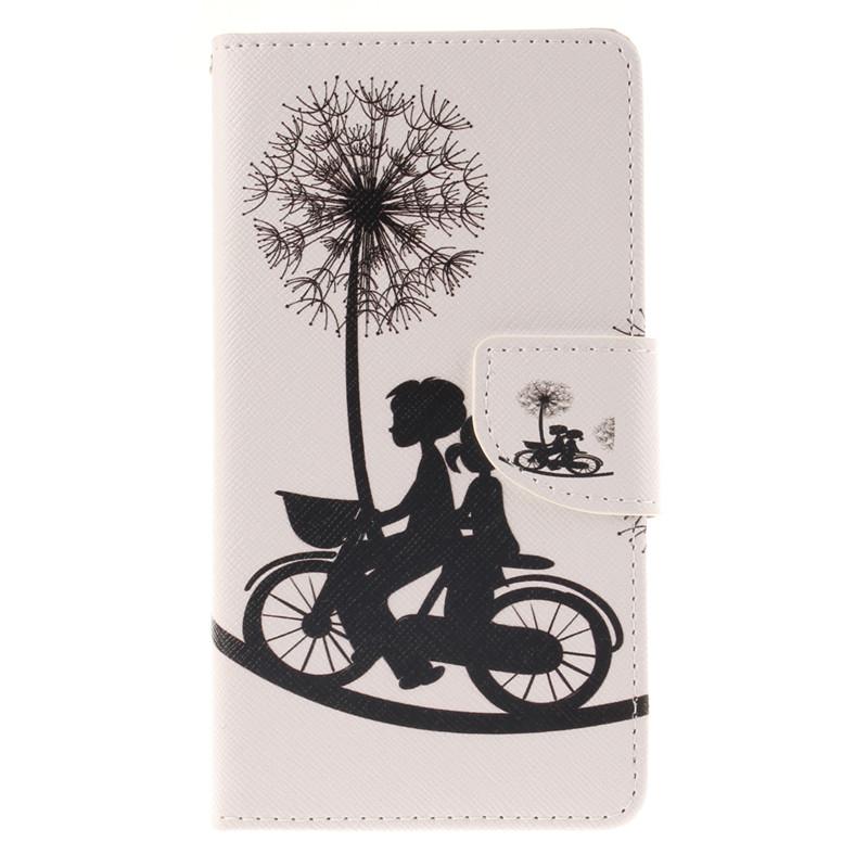 GANGXUN дурман цветы дизайн кожа pu откидная крышка бумажника карты держатель чехол для asus zenfone 2 ze551ml