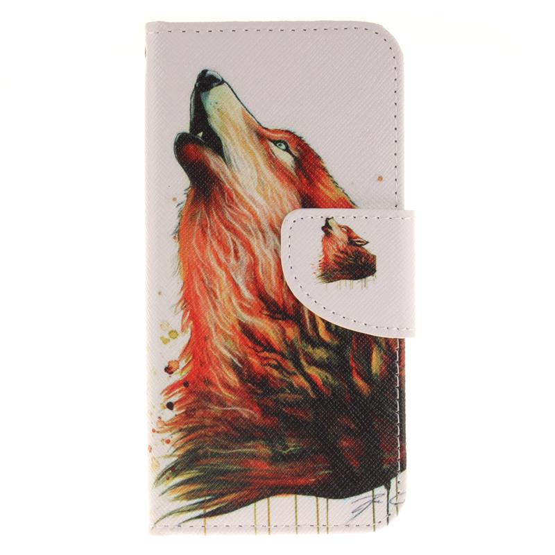 GANGXUN волк дизайн кожа pu откидная крышка бумажника карты держатель чехол для iphone 7g