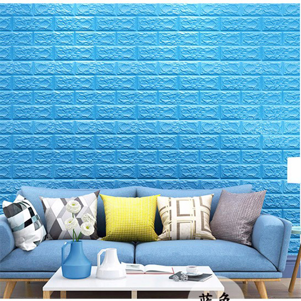 MyMei Синий цвет beibehang 3d relief wallpaper modern pink sky blue wallpaper bedroom living room tv background wall wallpaper for walls 3 d