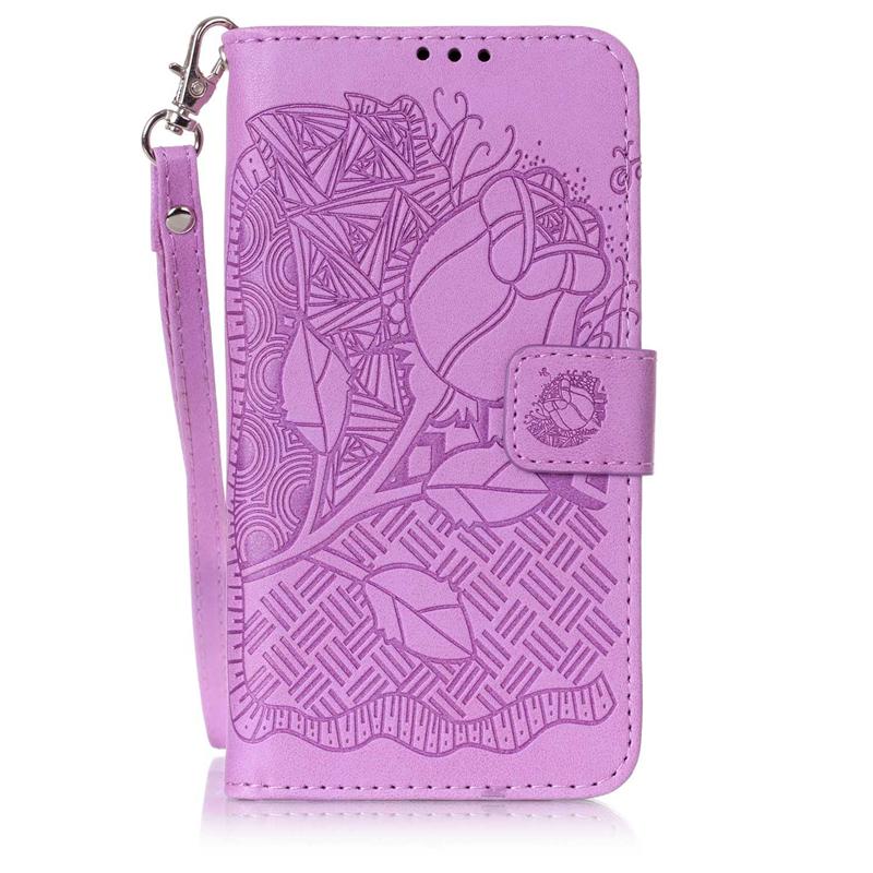 GANGXUN браун роуз дизайн кожа pu откидная крышка бумажника карты держатель чехол для huawei y5ii