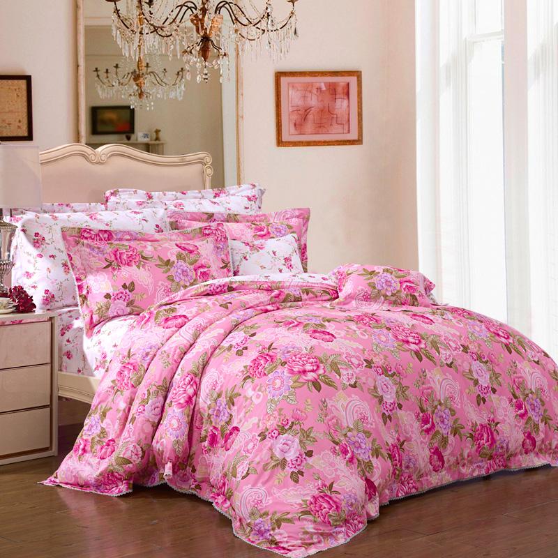 JD Коллекция красавица\ Violet Кровать 15 м 203 229cm mercury постельные принадлежности набор 4 штуки простыня с набивной чехол на одеяло 100% хлопок