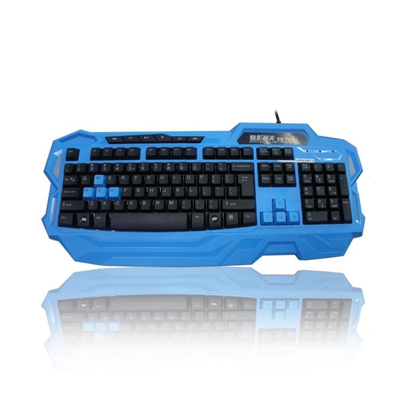 RAJFOO Синий цвет компьютерная клавиатура ipazzport 2 4g 5pcs c1644ru