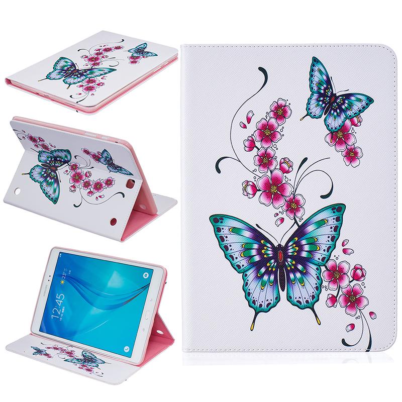 GANGXUN персиковая бабочка стиль тиснение классический откидная крышка с функцией подставки и слот для кредитных карт для samsung galaxy tab e 8 0 t377v