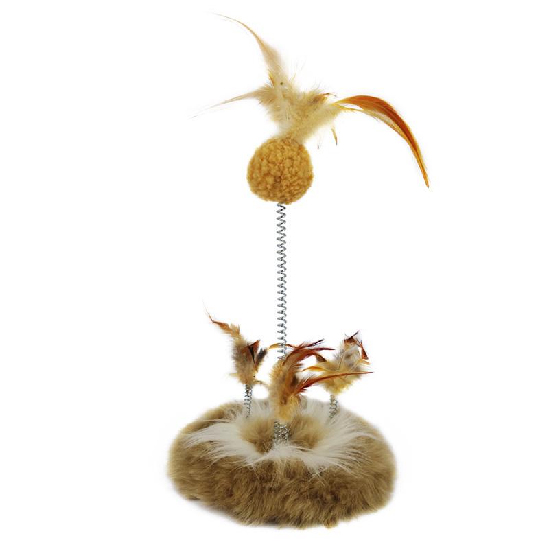 JD Коллекция Spring Feather Ball Brown клетка сша kojima игрушка моделирования кошка кошка игрушка котовник игрушка осьминог шары