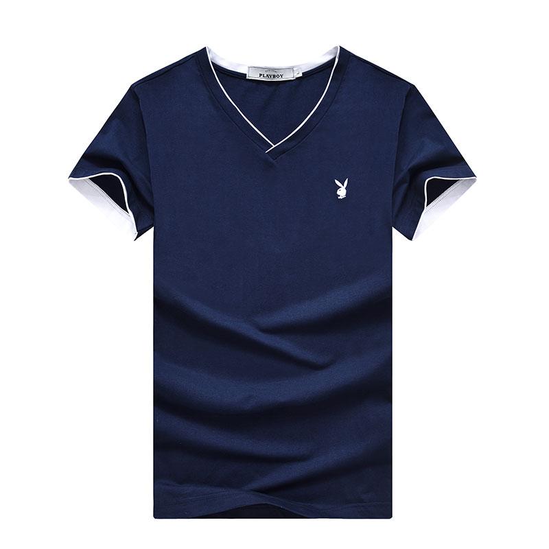 PLAYBOY Темно-синий XXXL playboy мужская модная и повседневная футболка с коротким рукавом и клуглым воротником