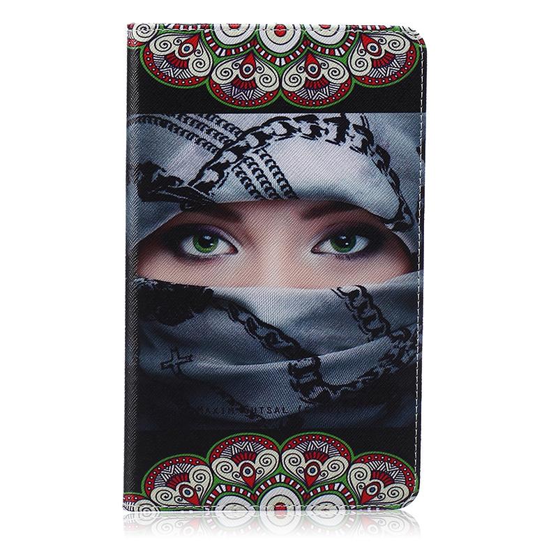 GANGXUN арабская девочка стиль тиснение классический флип обложка с функцией подставки и слот для кредитных карт для samsung galaxy tab s t800