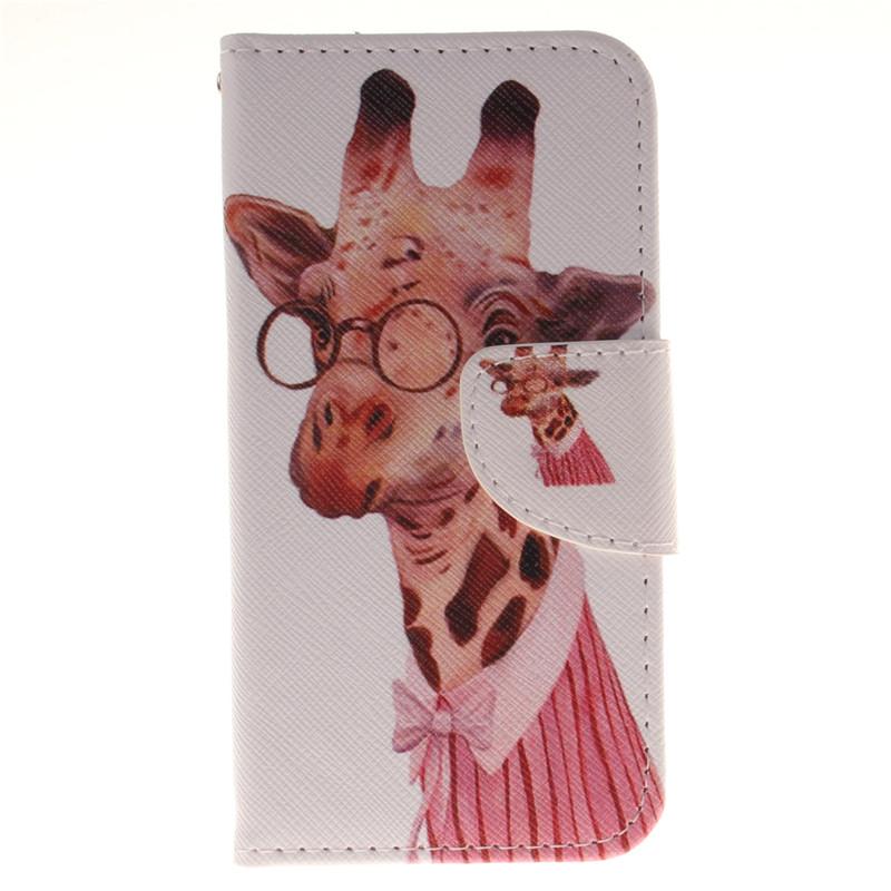 GANGXUN жираф дизайн кожа pu откидная крышка бумажника карточки дело держатель для lg k4