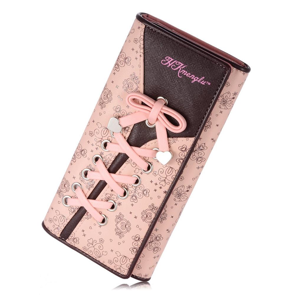 MyMei 2017 genuine cowhide leather women wallets fashion purse card holder vintage long wallet clutch wrist bag k103