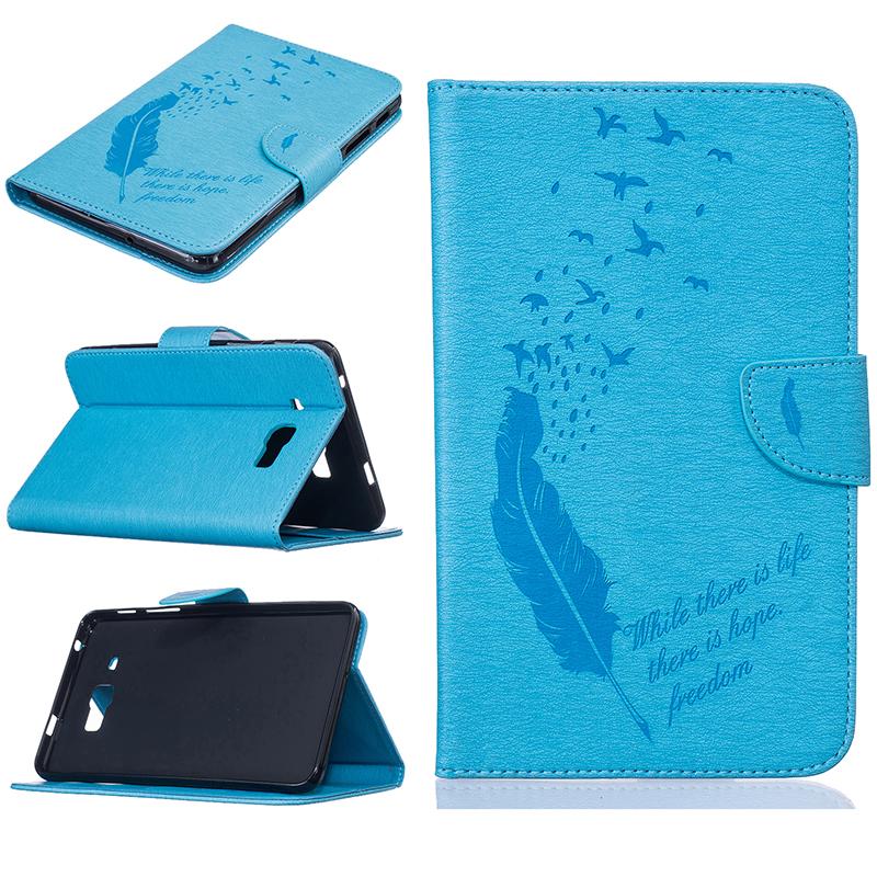 GANGXUN светло голубые перья стиль тиснение классический флип обложка с функцией подставки и слот для кредитных карт для samsung galaxy tab a 9 7 t550