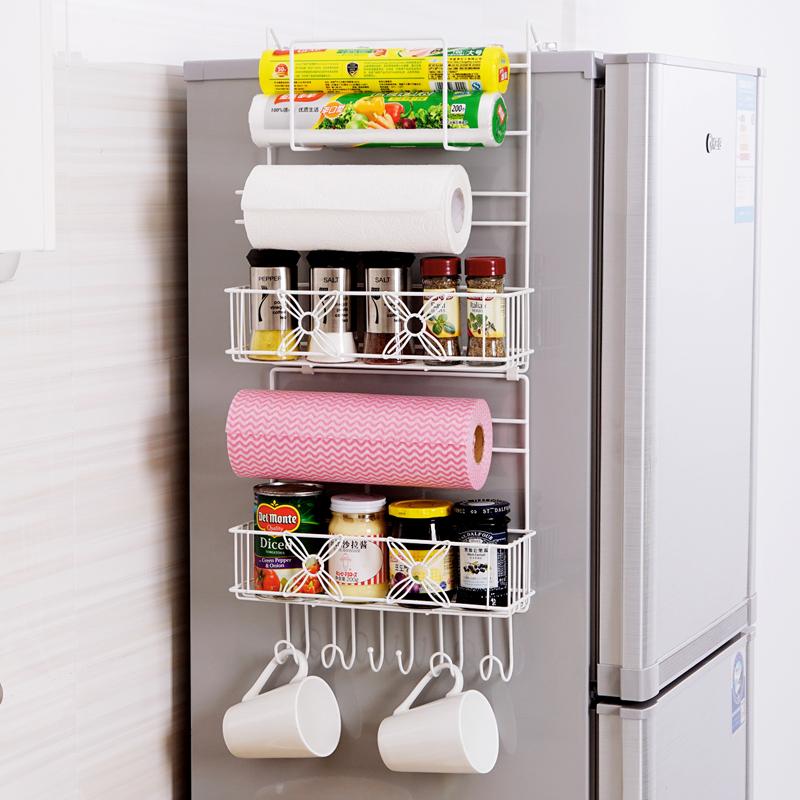 JD Коллекция Экономическая версия 6 слоев белого холодильник полка дефолт корзина стойка ikea пространства мастера три белое платье в европе юн чул корзину холодильника шкафа