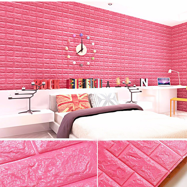 MyMei Розовый beibehang 3d high relief embossed thicker continental style non woven living room bedroom tv background wallpaper