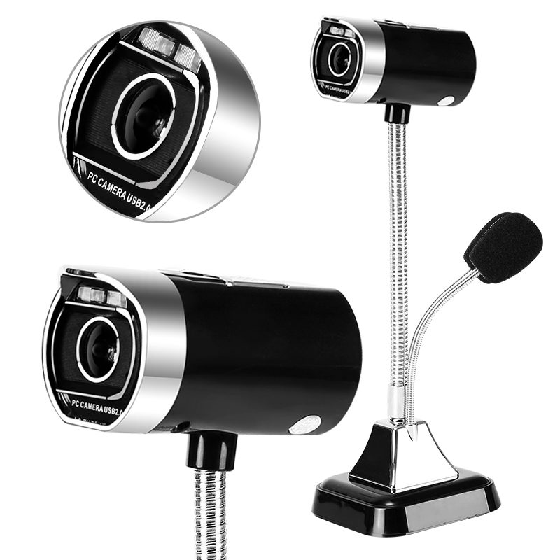 JD Коллекция Черный ashu v80 hd камера с микрофоном для настольных компьютеров и ноутбуков