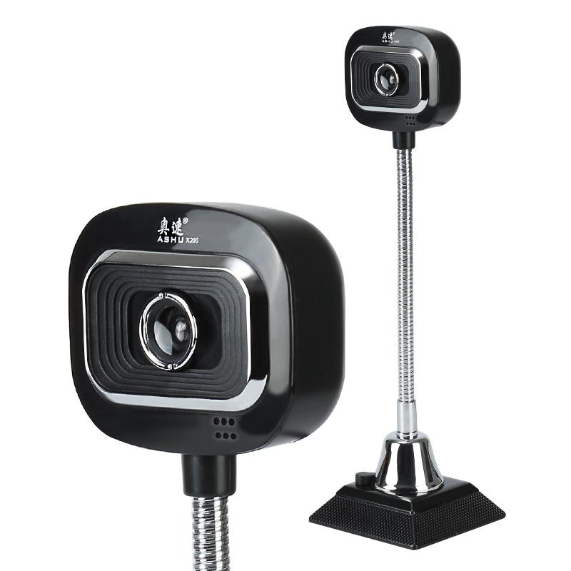 JD Коллекция Черный ashu v80 hd камера с микрофоном для настольных компьютеров и ноутбуков черный
