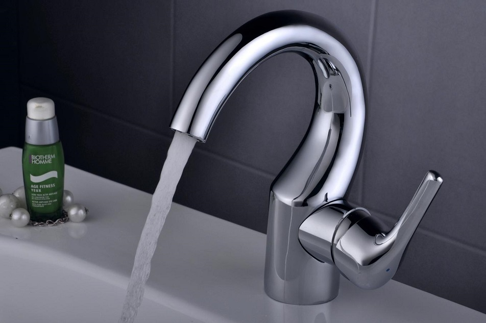 GANGGANG water pump waterfall spout bathroom basin faucet brushed nickel sink mixer tap