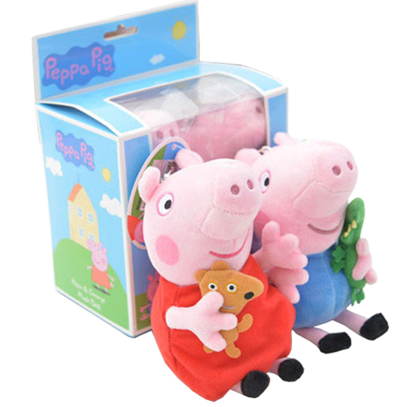 JD Коллекция Малые два загруженных дефолт свиньи page peppapig 30см плюшевые игрушки peppa pig джордж грязи