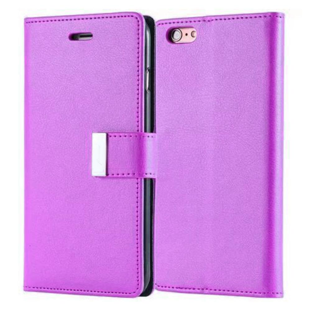 MyMei Фиолетовый цвет mercury goospery milano diary wallet leather mobile case for iphone 7 plus 5 5 grey