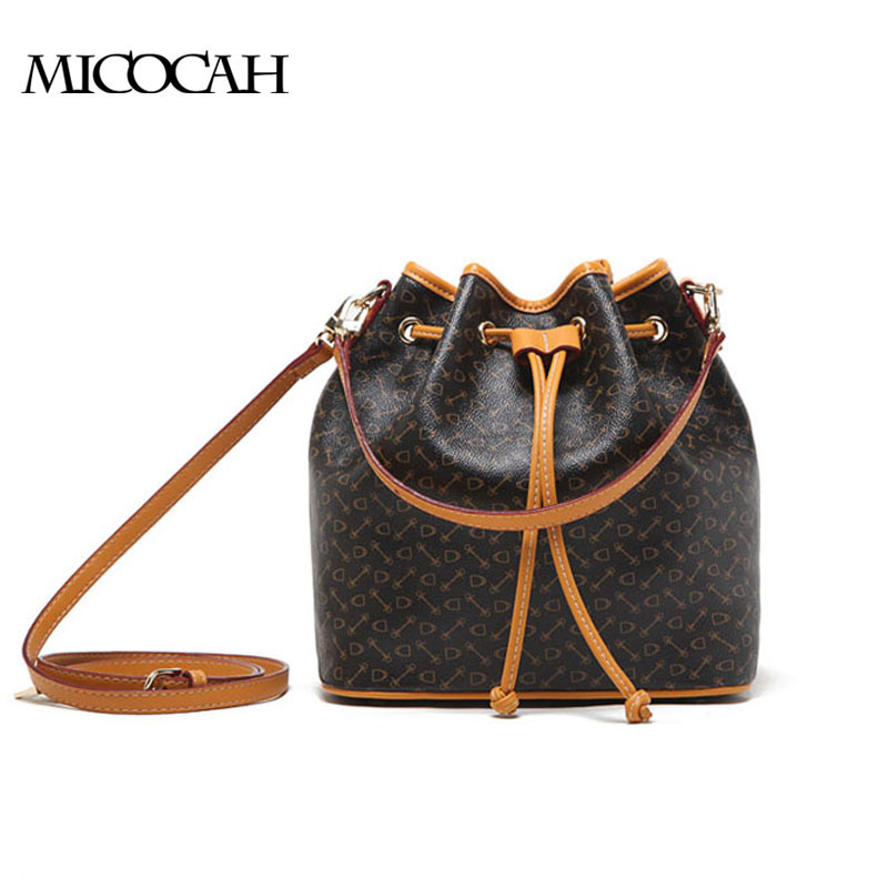 MICOCAH Коричневый ly shark crocodile cowhide leather women messenger bags luxury handbags women bags designer crossbody bags women shoulder bag