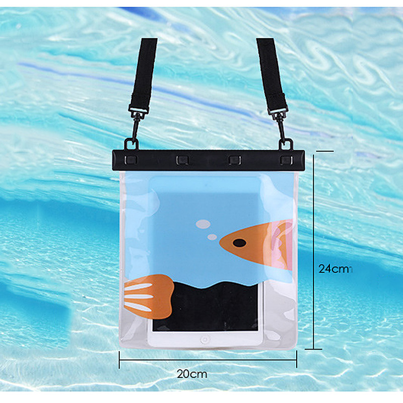 MyMei Синий цвет universal waterproof bag with lanyard for iphone cell phone black