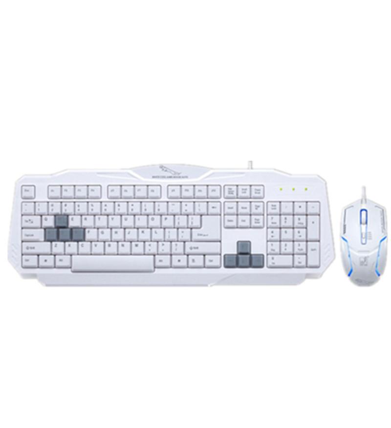 RAJFOO Слоновая кость мышь и клавиатура установлена водонепроницаемая проводная мышь и клавиатура люкс домашняя игра люкс