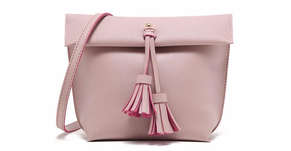 MICOCAH Розовый бесплатная доставка женщины плеча сумки кожа pu с tassel элегантный сплошной цвет hobos сумка одноместный ленты сумки сумки