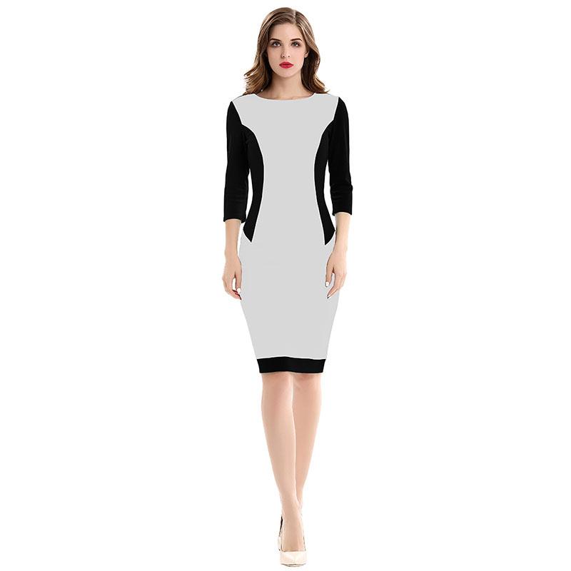 Mink Keer белый S женское платье heegrand vestidos femininos o s 3xl 5 vestido wqs062