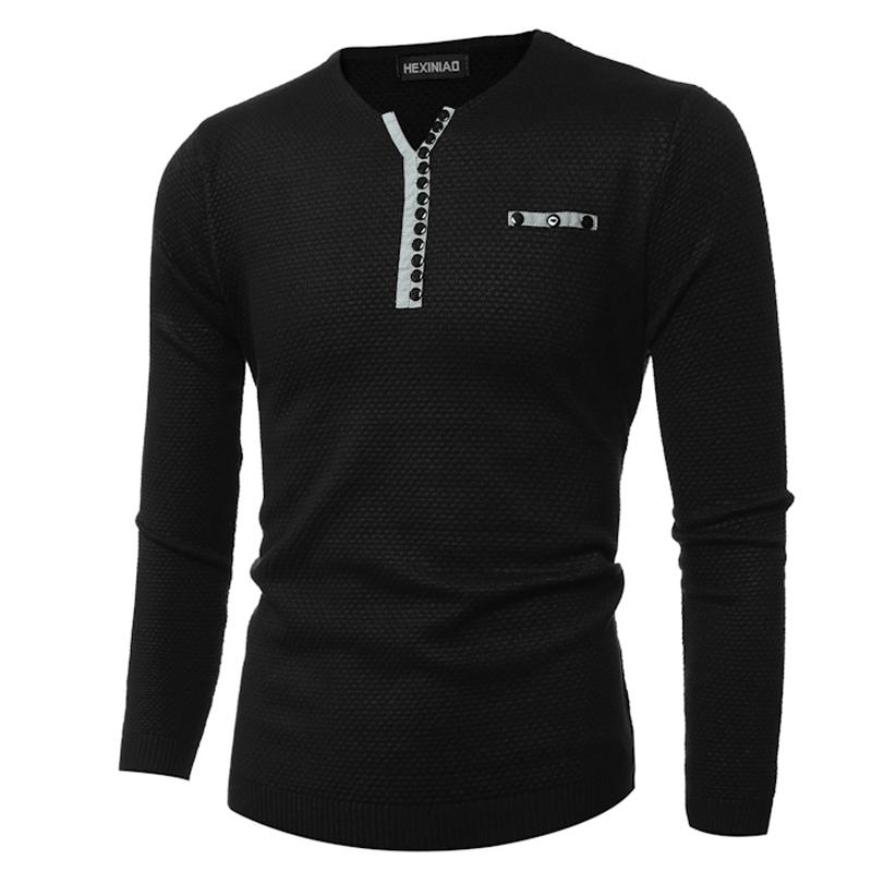 CT&HF Чёрный цвет Номер XL аши дейтон мужские v образным вырезом свитер пуловер свитер сплошной цвет мужчин случайный с длинными рукавами свитер бордовый 180 xl a4090057