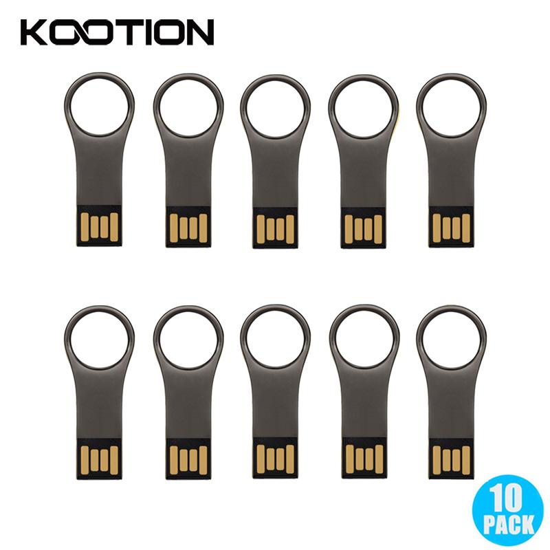 KOOTION 1GB mini car key usb flash drive 2 0 metal usb memory stick 16gb 8gb 4gb 2gb 1gb silver