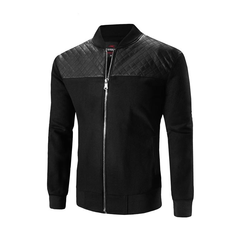 CT&HF Чёрный цвет Номер XL yoms куртки мужские куртки с длинными рукавами печати прилив корейский монах воротник молния куртки хетер грей xl 180