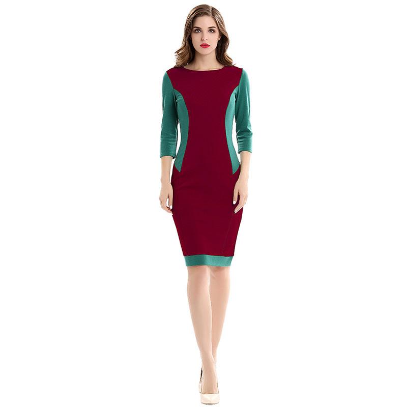 Mink Keer красный S женское платье heegrand vestidos femininos o s 3xl 5 vestido wqs062