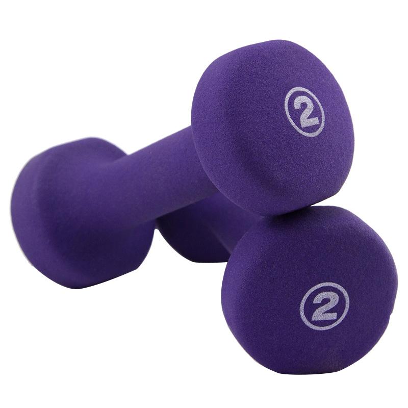 JD Коллекция Фиолетовый 2 фунта 2 proiron цвет матовый скраб гантель чжэн дуоян прыжок гимнастика гантель костюм фитнес оборудование спортивные товары 3 кг